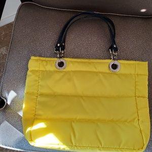 SUNDAR Original shoulder handbag yellow/navyblue